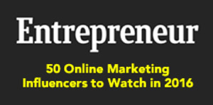 Entrepreneur - 50 Online marketing Influencers to Watch in 2016