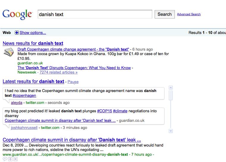 Busqueda en tiempo Real de Google