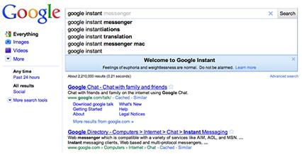 Google Instant y el SEO
