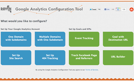 Raven Google Analytics Configuration Tool
