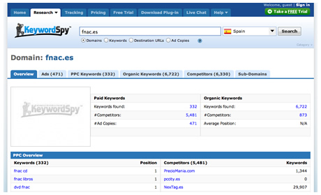 Keyword Spy - SEO Tool