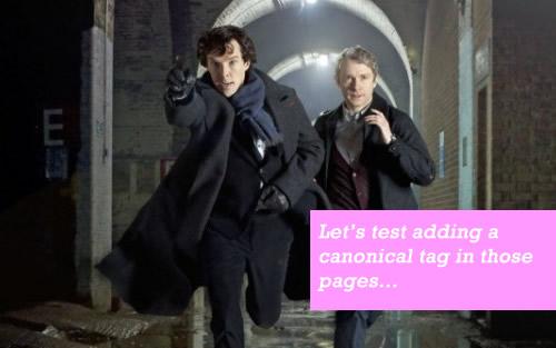 SEO Sherlock Holmes: Test