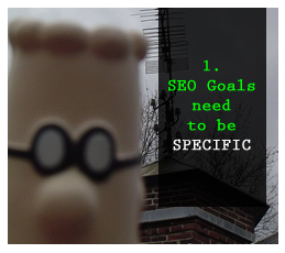 Specific SEO goals
