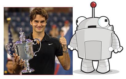 Roger Federer and Mozbot