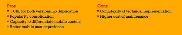 Dynamic Serving - Pros and Cons SEO