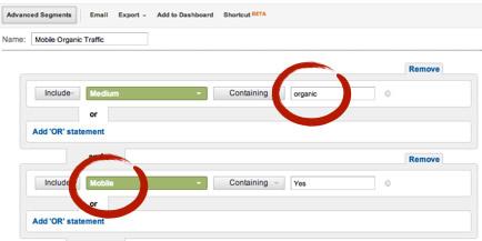 Organic Mobile Traffic Google Analytics