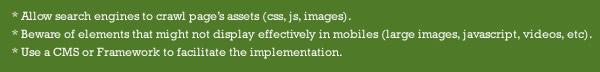Responsive Web Design SEO Recommendations