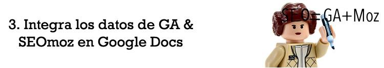 Integra datos de Google Analytics y SEOmoz en Google Docs