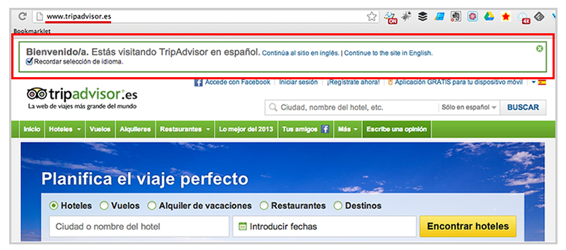 Tripadvisor Country Redirect