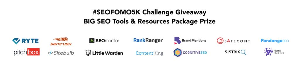 seofomo5k newsletter challenge giveaway sponsors big prize