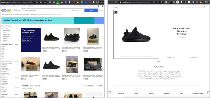 Product vs. Facet Page Targeting Same Query